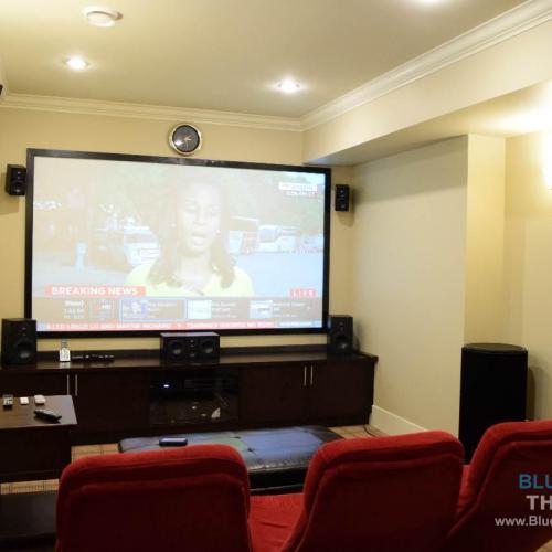 Home theatre installation media room design projector - Home theater design and installation ...
